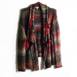 Urban Outfitters Multicolored Fringe Cardigan L